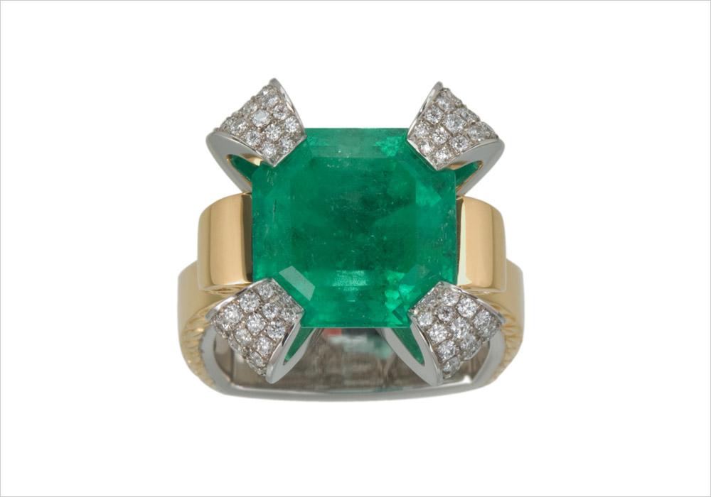 Nine Carat Emerald Ring