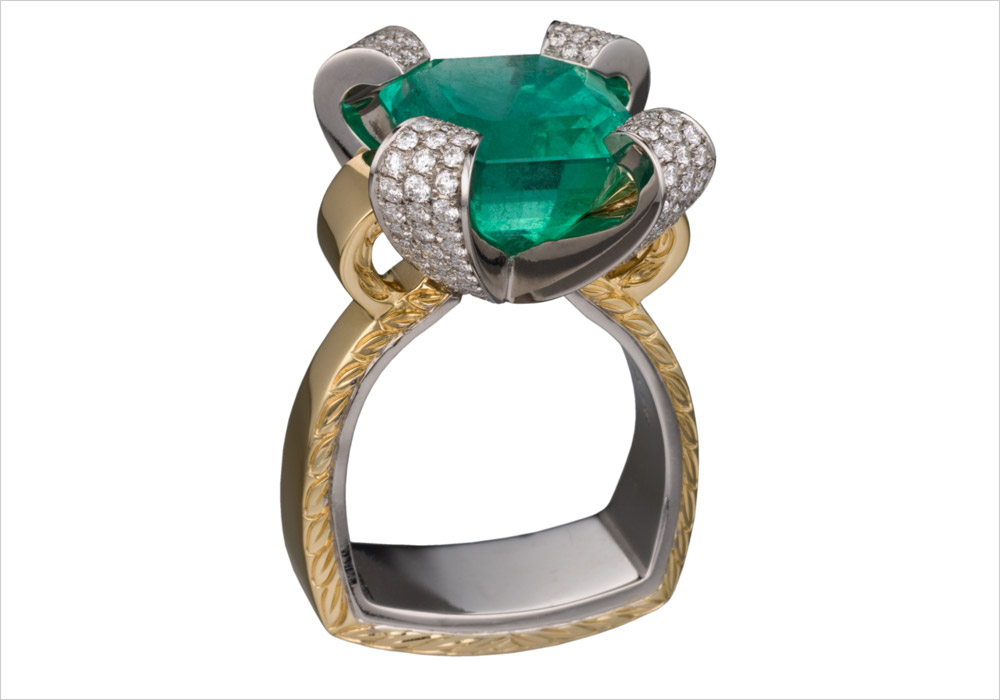 Nine Carat Emerald Ring